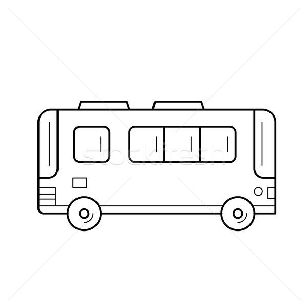 Passenger bus line icon. Stock photo © RAStudio