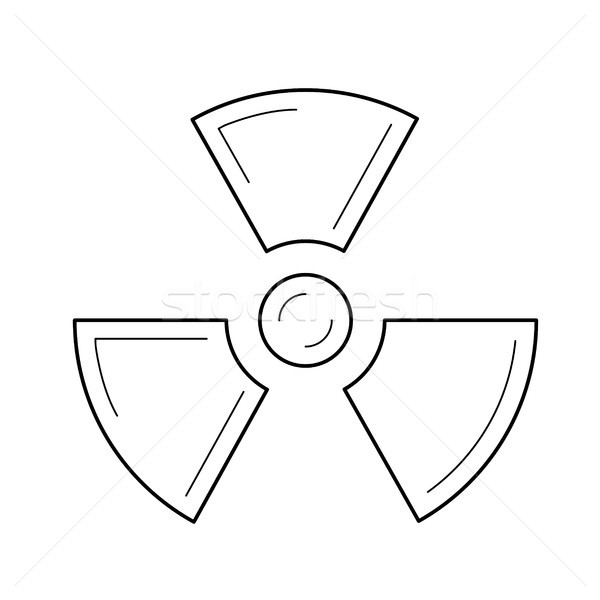 Radioactive sign vector line icon. Stock photo © RAStudio