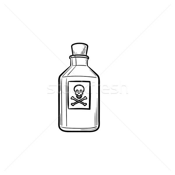 Tóxico dibujado a mano garabato icono peligroso Foto stock © RAStudio