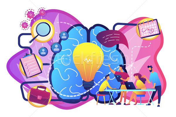 Project management concept vector illustration. Stock photo © RAStudio