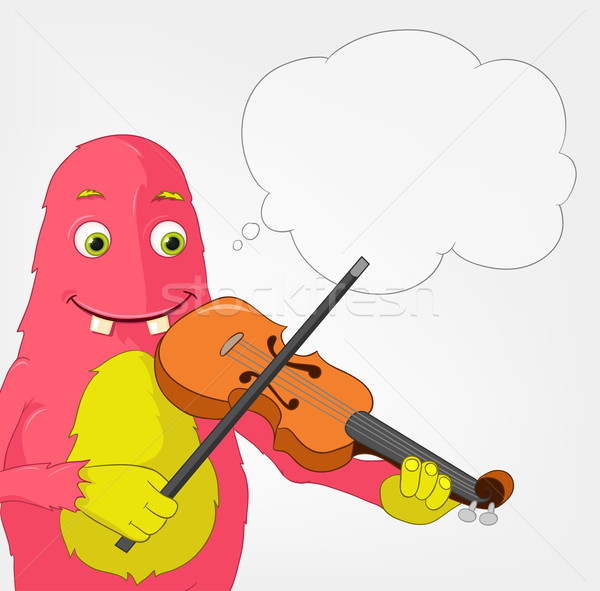 Funny Monster. Violinist. Stock photo © RAStudio
