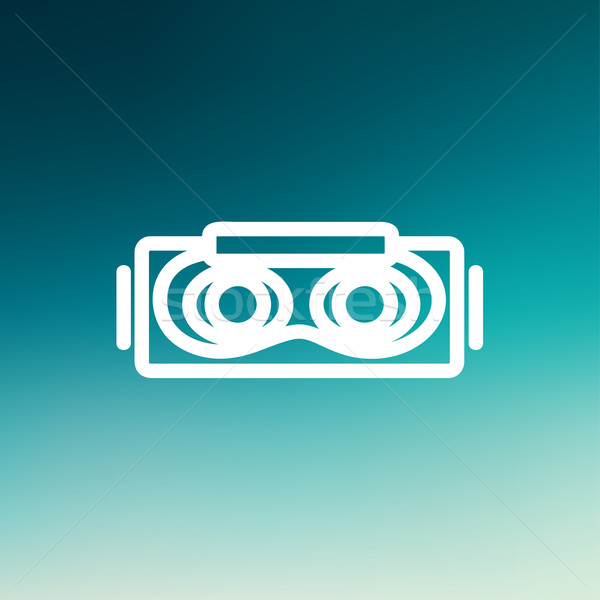 Virtual reality mask thin line icon Stock photo © RAStudio
