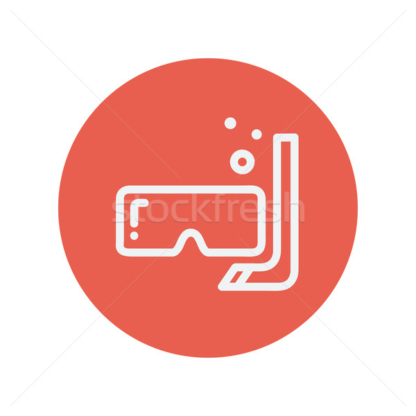 Mask and snorkel thin line icon Stock photo © RAStudio