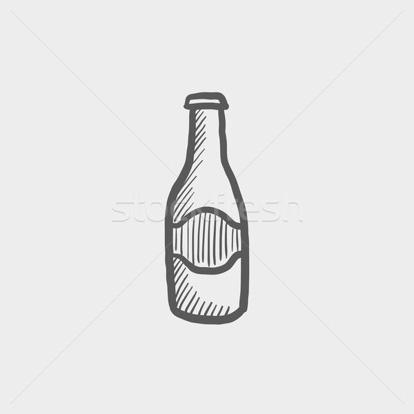 Light beer bottle sketch icon Stock photo © RAStudio