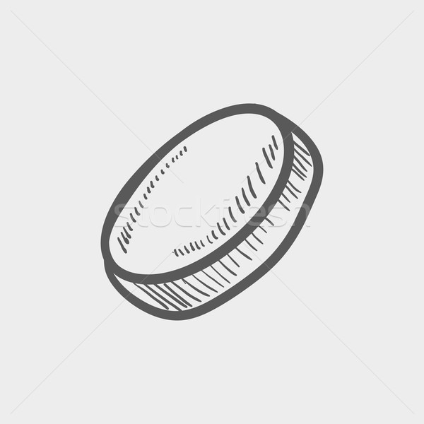 Hockey puck sketch icon Stock photo © RAStudio