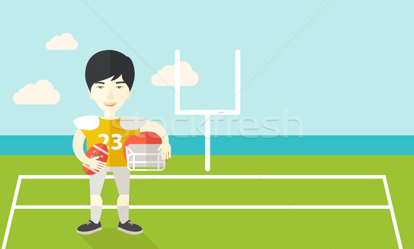 Rugby player on stadium. Stock photo © RAStudio