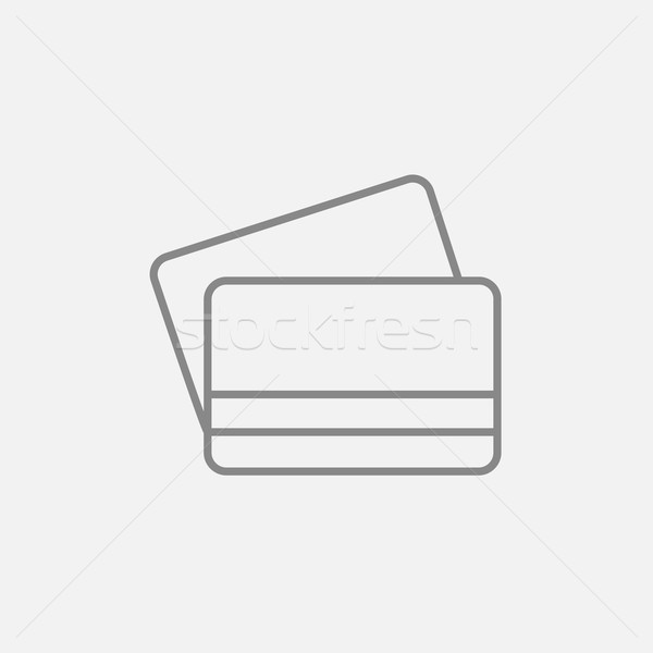 Creditcards lijn icon web mobiele infographics Stockfoto © RAStudio