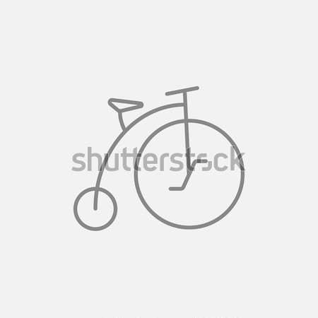 Stopwatch line icon. Stock photo © RAStudio