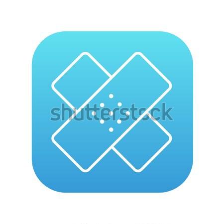 Stock photo: Adhesive bandages line icon.