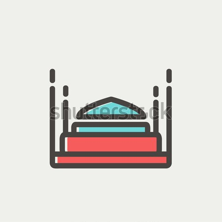 Taj Mahal line icon. Stock photo © RAStudio