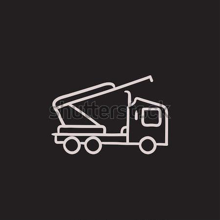 Stockfoto: Machine · kraan · lijn · icon · web · mobiele