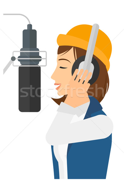 Singer making record.  Stock photo © RAStudio