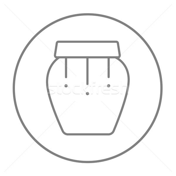 Davul enstrüman hat ikon web hareketli Stok fotoğraf © RAStudio