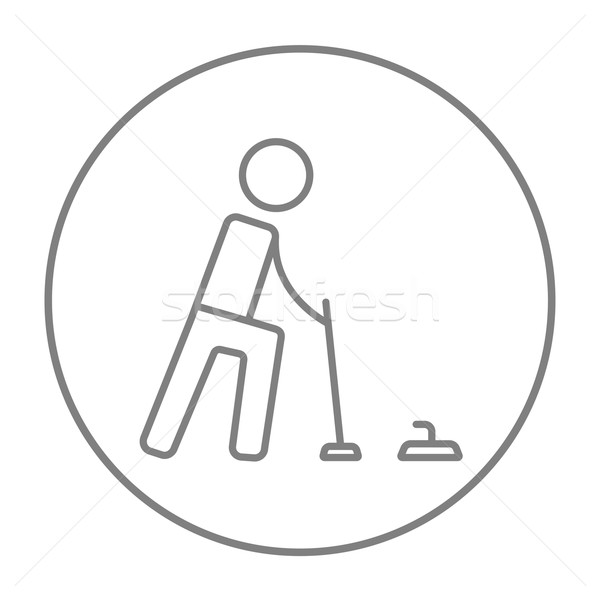 Curling line icon. Stock photo © RAStudio