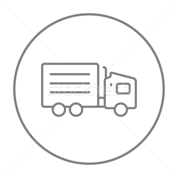Delivery truck line icon. Stock photo © RAStudio