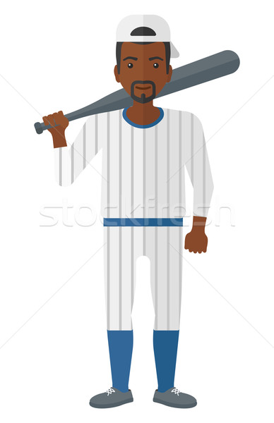 Baseball player standing with bat. Stock photo © RAStudio