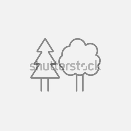 Trees line icon. Stock photo © RAStudio