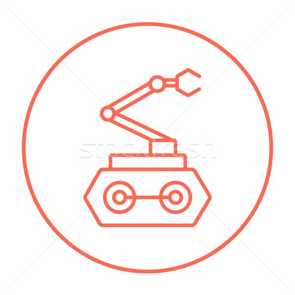 промышленных механический робота руки линия икона Сток-фото © RAStudio