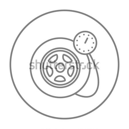 圧力 ゲージ タイヤ 行 アイコン ウェブ ストックフォト © RAStudio