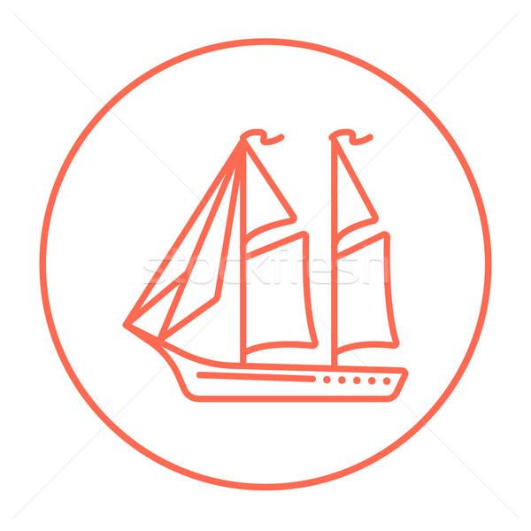 Sailboat line icon. Stock photo © RAStudio