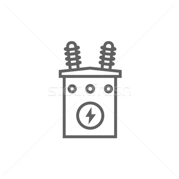 高電圧 トランス 行 アイコン コーナー ウェブ ストックフォト © RAStudio
