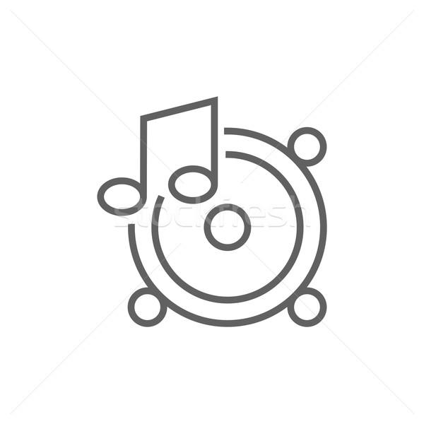Música nota línea icono web móviles Foto stock © RAStudio