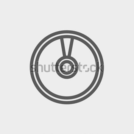 Dysku line ikona internetowych komórkowych Zdjęcia stock © RAStudio