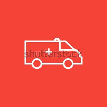 Ambulance auto lijn icon hoeken web Stockfoto © RAStudio