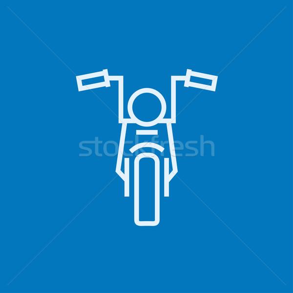 Motorcycle line icon. Stock photo © RAStudio