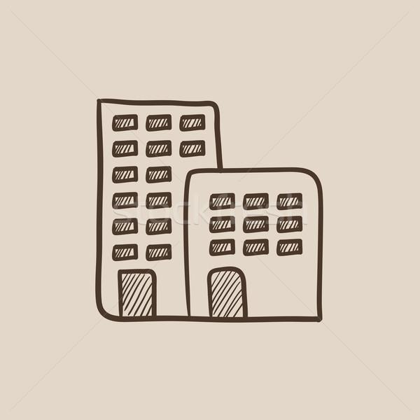 Fábrica boceto icono web móviles infografía Foto stock © RAStudio