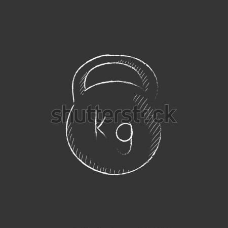 гири мелом икона рисованной вектора Сток-фото © RAStudio