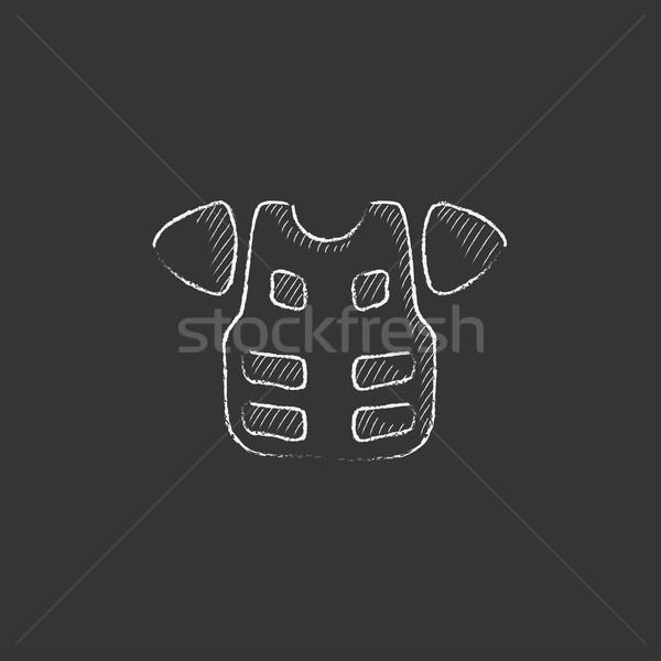Motorcycle suit. Drawn in chalk icon. Stock photo © RAStudio