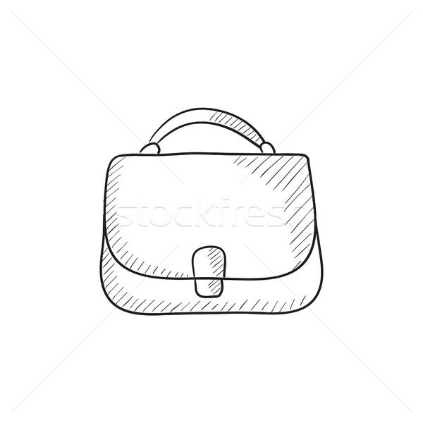 Female handbag sketch icon. Stock photo © RAStudio