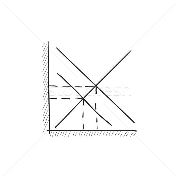 Matemático gráfico boceto icono vector aislado Foto stock © RAStudio