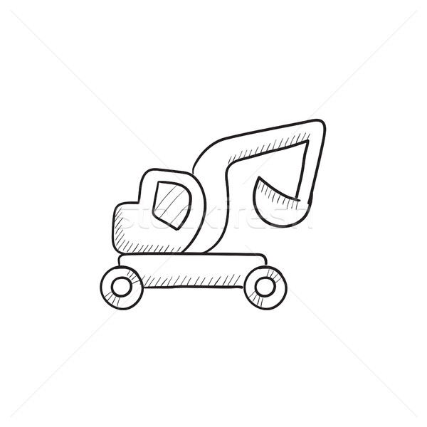 Kotrógép teherautó rajz ikon vektor izolált Stock fotó © RAStudio