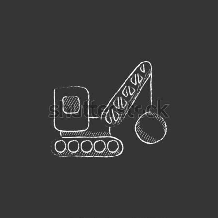 Rombolás állvány rajz ikon vektor izolált Stock fotó © RAStudio