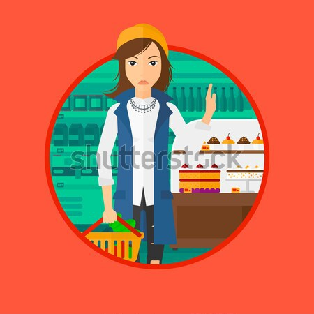 Woman refusing junk food vector illustration. Stock photo © RAStudio