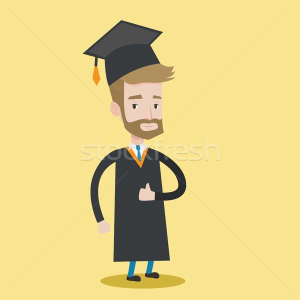 商业照片 / 矢量图: 毕业 · 拇指 · 上 · 快乐 · 毕业 / a happy