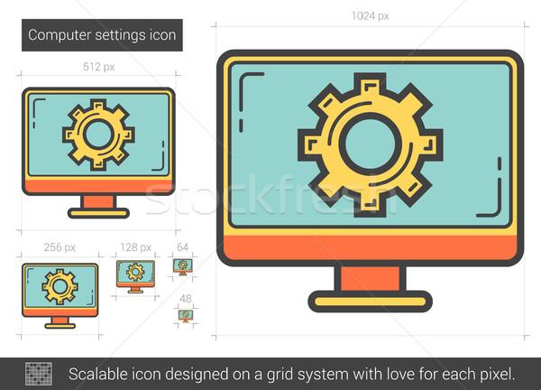 Computer settings line icon. Stock photo © RAStudio