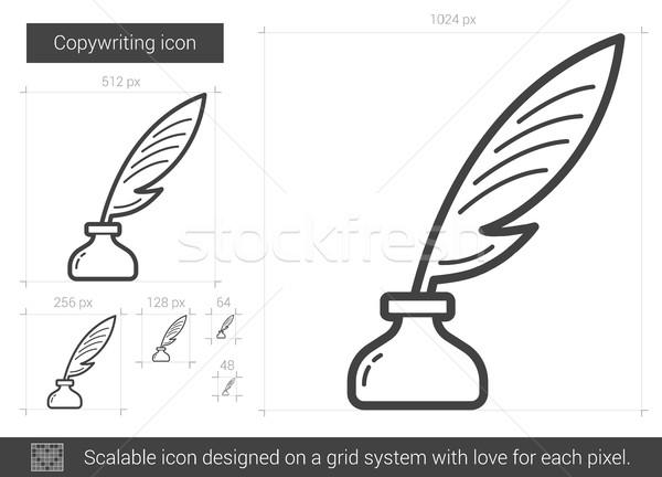 Copywriting line icon. Stock photo © RAStudio