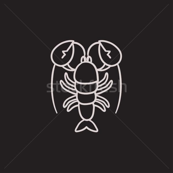 ロブスター スケッチ アイコン ベクトル 孤立した 手描き ストックフォト © RAStudio