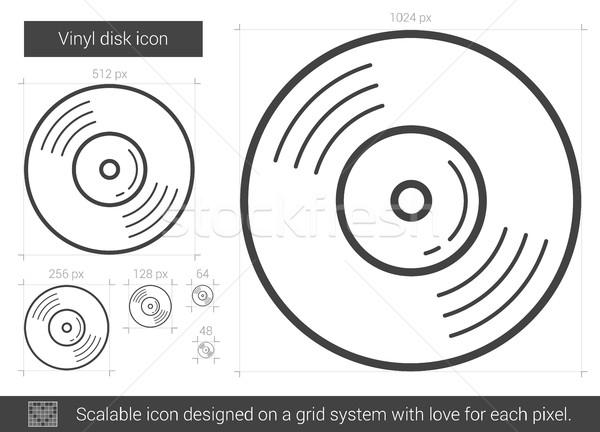 Vinil disk hat ikon vektör yalıtılmış Stok fotoğraf © RAStudio