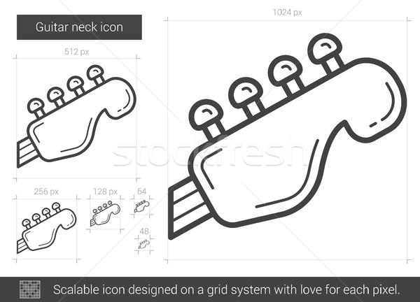 Guitar neck line icon. Stock photo © RAStudio
