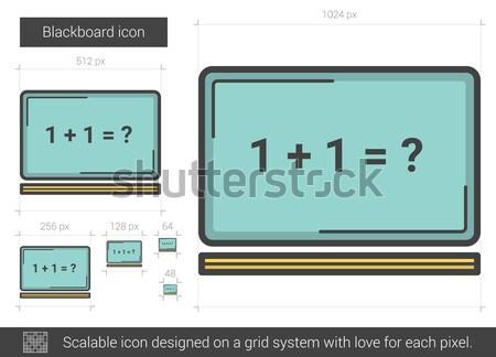 Blackboard line icon. Stock photo © RAStudio