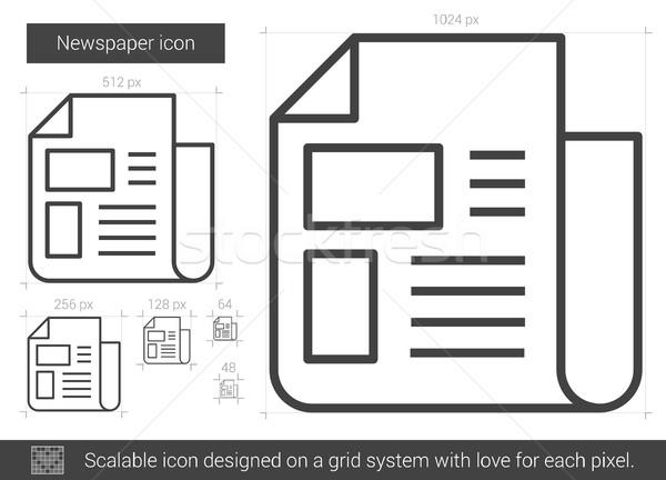 Krant lijn icon vector geïsoleerd witte Stockfoto © RAStudio