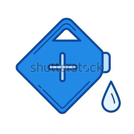 Benzine kan lijn icon vector geïsoleerd Stockfoto © RAStudio