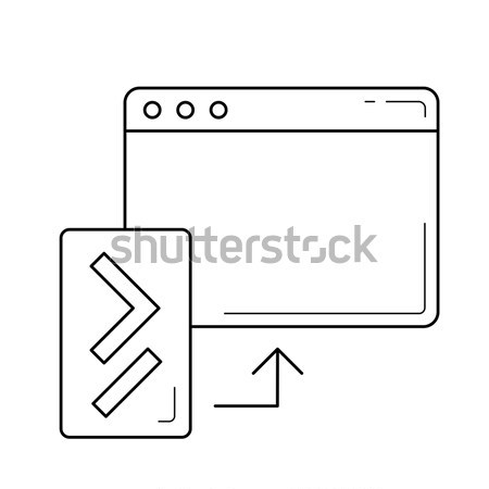 Code update line icon. Stock photo © RAStudio