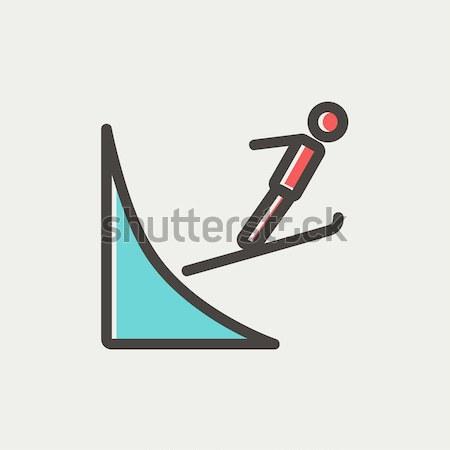 Układ projektu line ikona wektora odizolowany Zdjęcia stock © RAStudio