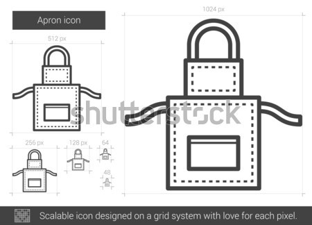 Apron line icon. Stock photo © RAStudio
