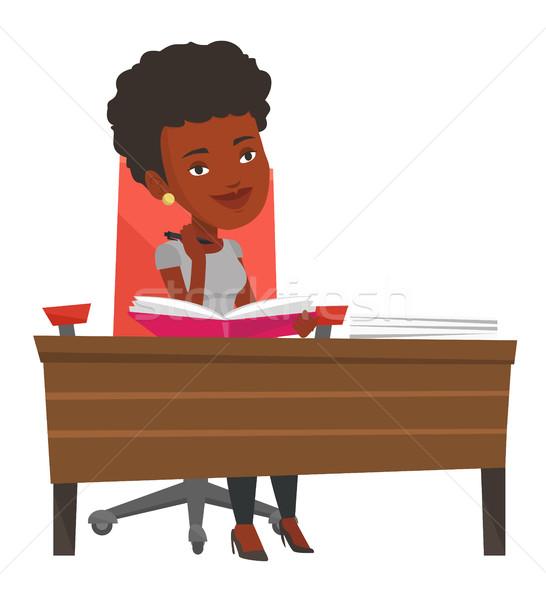学生 書く デスク 座って 表 思考 ストックフォト © RAStudio